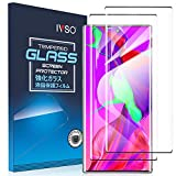 IVSO 2 Pack Screen Protector for Galaxy Note 10,Fingerprint Recognition Case Friendly and Bubbles Free Scratchproof Tempered Glass,Easy Installtion Compatible with Samsung Galaxy Note 10