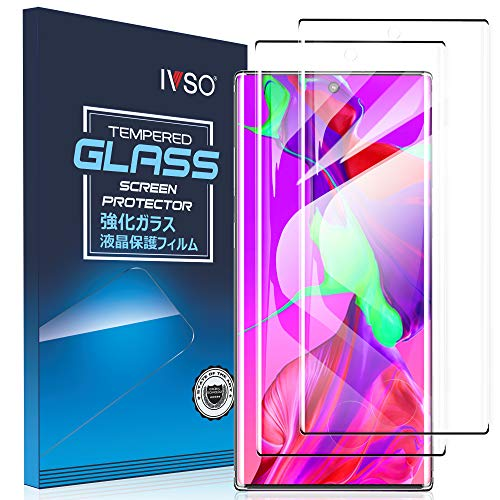 IVSO 2 Pack Screen Protector for Galaxy Note 10,Full Coverage Case Friendly and Bubbles Free Scratchproof Tempered Glass,Easy Installtion Compatible with Samsung Galaxy Note 10