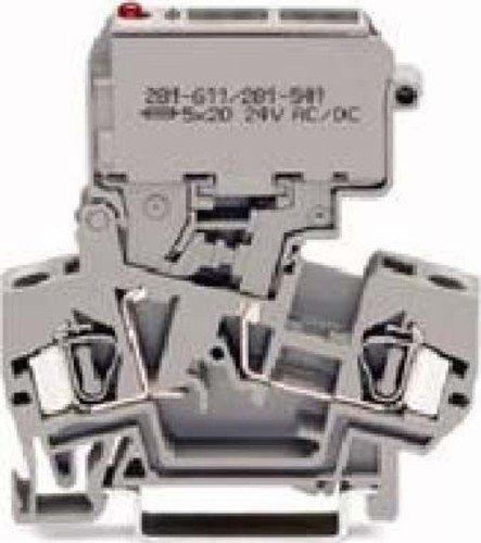 Preisvergleich Produktbild Wago Sicherungsklemme 281-611 / 281-541 4qmm LED rot