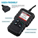 """LAUNCH Creader 3001 OBD2 Scanner Automotive Car Diagnostic Check Engine Light O2 Sensor Systems OBD Code Readers Scan… 17 : LAUNCH Creader 3001 obd2 scanner read and clear fault codes for engine system. In addition, Creader 3001 built in fault codes definition lookup library. LAUNCH Creader 3001 obd2 scanner works on most 1996 and newer US-based vehicles that are OBDII compliant (OBDII protocols: KWP2000, ISO9141, J1850 VPW, J1850 PWM and CAN). """"PLUG AND PLAY"""" scan tool, equipped with a 2. 5 feet long cable and made of a very thick flexible insulator, very easy to use for beginners. : You can use this obd2 scanner to check the status of emission-related monitors misfire system and fuel system, make sure the monitor was set before taking it to smog, help you pass the Smog Check easily, save your money for paying fine tickets. : Turns off the MIL , if you finished repairing the faulty components, then clear the fault codes and turn on the vehicle ignition, it is surprise that you will find the check engine light is off. And more, LAUNCH Creader 3001 obd2 scanner can read the car's information such as VIN number."""