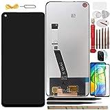 YHX-OU 6.53' para Xiaomi Redmi Note 9 Redmi 10X 4G Pantalla LCD Juego de digitalizador táctil de repuesto con herramienta de instalación + 1 pieza de cristal templado + 1 película de lente (negro)