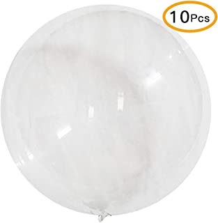 BCARICH 10 Packs Large Clear Bubble Balloons, 24 inch Big Round Transparent BoBo Balloon Without Wrinkle for Birthday Party Wedding Baby Shower and Event Decoration