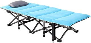 Cots Camping Bed Folding Bed Household Single Bed Office Lunch Bed Outdoor Beach Bed Lounge Chair Hospital Accompanying Bed Can Bear 200 Kg,B