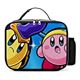 Lunch Box Kirby Detachable Insulated Lunch Bag Large Meal Pack Water Resistant Carry Case Double Zipper for Adults