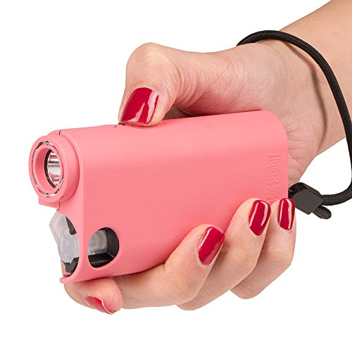 Guard Dog Security World's Only All-in-One Stun Gun - Pepper Spray - Flashlight, Olympian, Pink