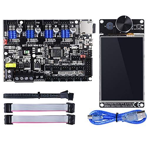 PoPprint BIGTREETECH SKR MINI E3 V1.2 32-Bit-Controller Integrierter TMC2209-UART-Treiber mit Bildschirm vs Cheetah V1.2b SKR E3 DIP für Creality Ender 3 (SKR MINI E3 V1.2+TFT35 V3.0)