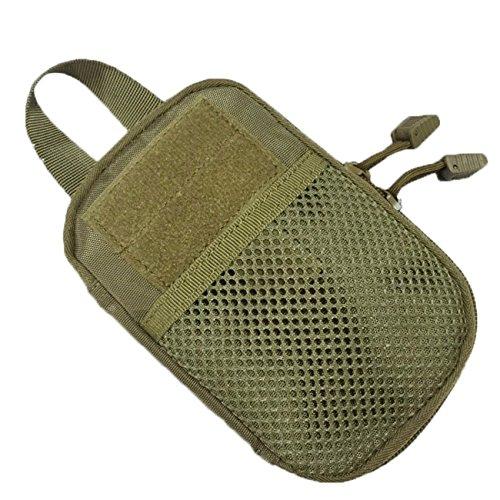 Maldives Militaire EDC outil accessoires sac chasse Utility Pouch Tactical Taille Sac Premier Secours, vert