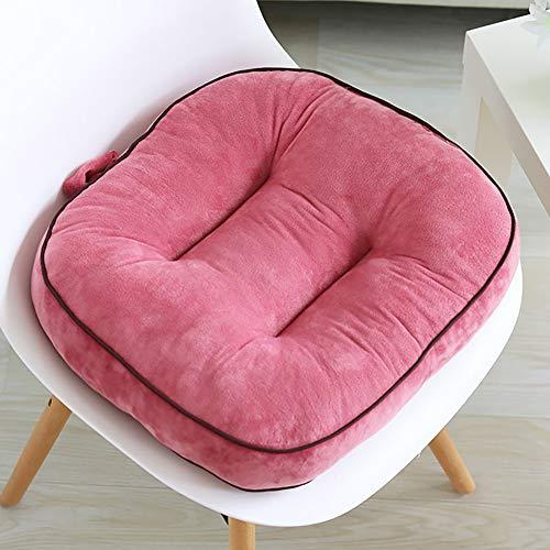 ZJZJ Ultra Suave Memoria Silla De Oficina,Suave Comodidad Cojín De Asiento,General Cuatro Temporadas Coche Seat Cushion Rosa 43cm