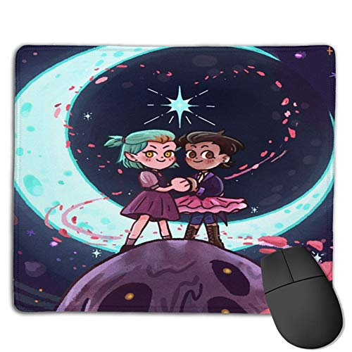 The Owl House Mouse Pad with Stitched Edge, Computer Mouse Pad with Non-Slip Rubber Base, Mouse Pads for Computers Laptop Mouse Gaming Mousepad Mat White One Size