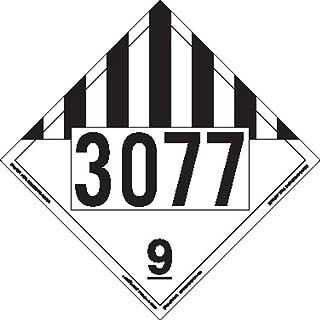 Labelmaster ZT193077 UN 3077 Miscellaneous Dangerous Goods Hazmat Placard, Tagboard (Pack of 25)