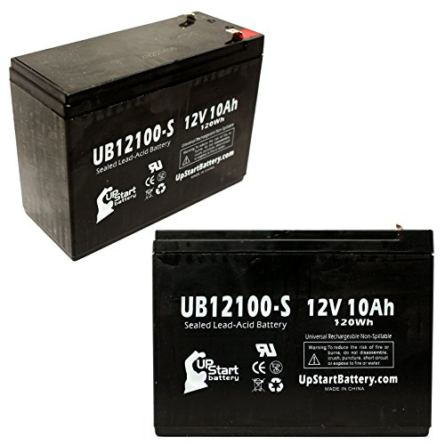2X Pack UpStart Battery Replacement for Neuton Mowers CE5 Battery - UB12100-S Universal Sealed Lead...