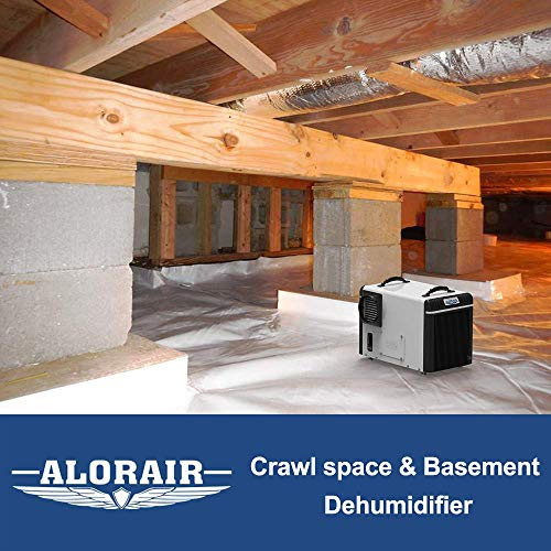 AlorAir Basement/Crawlspace Dehumidifiers 198PPD (Saturation), 90 Pints (AHAM), 5 Years Warranty, Condensate Pump, HGV Defrosting, Epoxy Coating, Remote Control (optional)