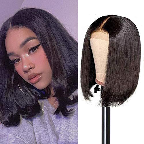 """BLISSHAIR 360 Full Lace Wig bonnet pour perruques Bresilienne Cheveux 130% Bob Wig Naturel 8"""""""