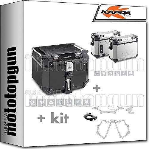 KVE42B - Maletín para KVE37APACK2 + portador Monokey + portaequipajes lateral con ajuste retro compatible con Yamaha FZ6 600 FAZER S2 2011 11