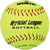 Worth Brand Yellow Softball 12 Inch .44 COR 375 COMP New Ships from
