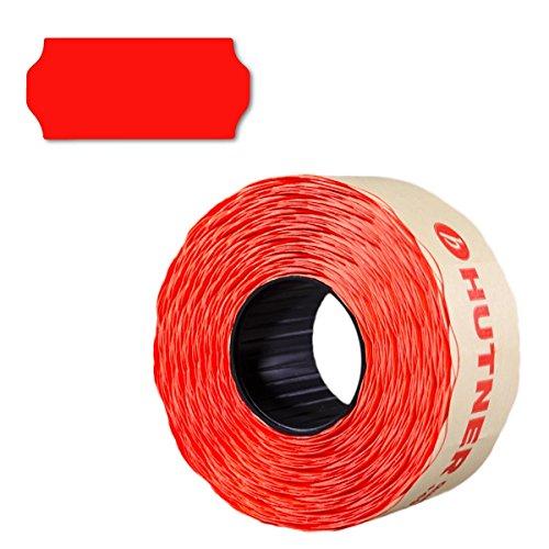 15.000 Preisetiketten 26x12, leucht-rot, permanent, 10 Rollen a 1.500 Stück, Preisauszeichner Etiketten 26 x 12 | Auszeichnen | HUTNER