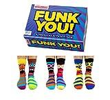 Funk You! - Boîte de 6 chaussettes dépareillées - par United Oddsocks UK 6-11 (39/46 EU) - multicolore