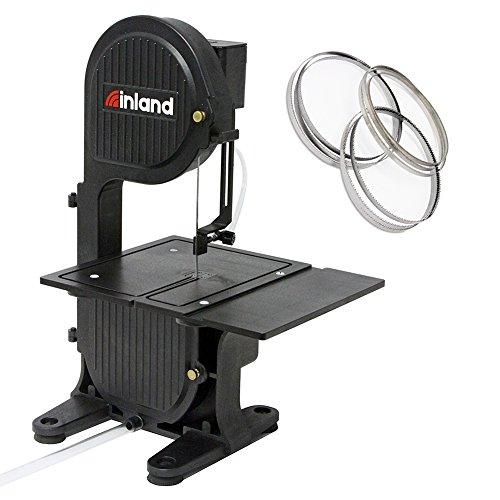 Inland Craft DB-100 Tabletop Band Saw Machine | Cuts Glass Stone Wood Metals Plastics | Includes THREE Band Saw Blades