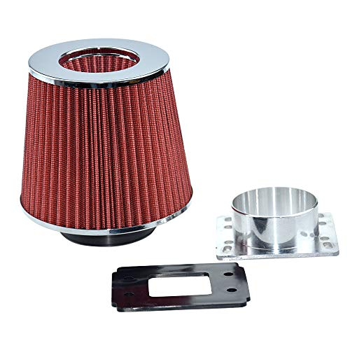 Lizudian RED Cone Dry Filter+AIR Intake MAF Adapter Kit for 1992 1993 1994 1995 1996 1997 1998 1999 2000 2001 2002 2003 Ranger 2.3L 2.5L 3.0L