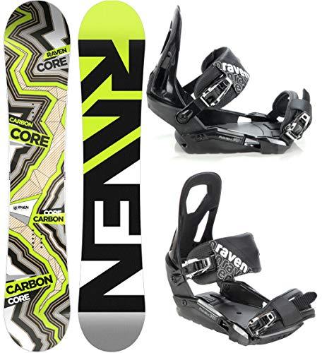 RAVEN Snowboard Set: Snowboard Core Carbon 2020 + Bindung s240 (163cm Wide + s240 Black M/L)