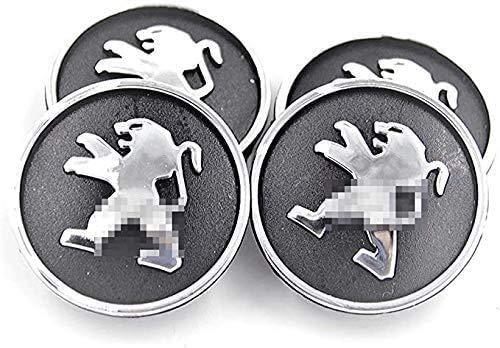 Tapas de cubo de centro automático de 4 piezas para Peugeot, pegatinas de insignia de logotipo de centro de rueda de 54 mm, accesorios de decoración de modelado de neumáticos