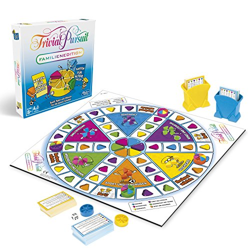 Trivial Pursuit Familien Edition, Quizspiel mit Fragen für Klein und Groß