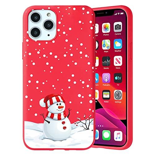Yoedge Navidad Funda para Apple iPhone 5 / 5S 4', Carcasa Rojo Silicona con Dibujos Animados Diseño, Suave Ultrafina Antigolpes TPU Bumper Protector Case Fundas para Movil iPhone 5S, Muñeco de nieve 2