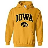 AH03 - Iowa Hawkeyes Arch Logo Hoodie - Medium - Gold
