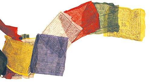Saraswati Tibetische Gebetsfahne 20x20cm Länge 5m 100% Baumwolle Buddhistische Fahne