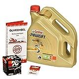 Castrol 10W-40 Öl + K&N Ölfilter für Honda XL 1000 V Varadero, 99-02, SD01 SD02 - Ölwechselset inkl. Motoröl, Filter, Dichtring