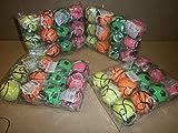 12 Stück Retro Springball an Gummiband, Flummi an Schnur, Fußball, Tennisball, Basketball und Baseball, farbig an Schnur