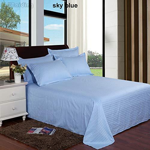 Home Textile Rose Red Hotel Bed Sheet 1 st Satijn Katoen Vlakke Vellen
