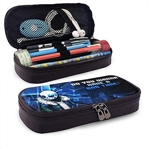 Undertale Unisex Student 's Federmäppchen Pen Box mit Reißverschluss Schreibwaren Tasche große Kapazität Buggy-Taschen für Mädchen Jungen