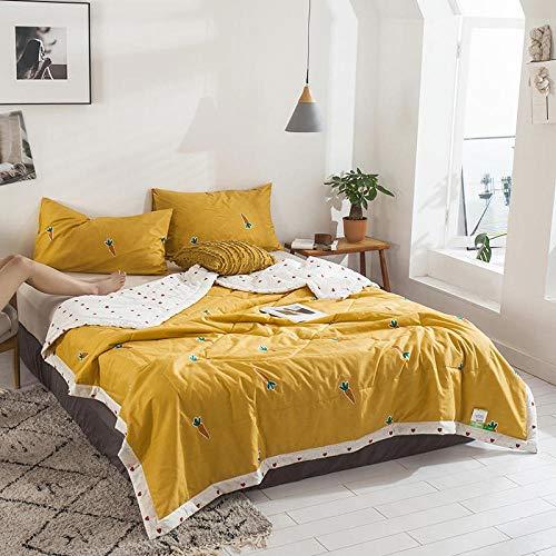 Bocotous Sommer Bettdecke Steppbettdecke Antiallergisch 150 * 200 cm (4 Stück), Print Quilt-Klimaanlage, Bettdecke Soft Breathable Cool Blanket Bed Cover T.