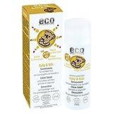 Eco Cosmetics Baby & Kids | SPF 45 | Minerale filters | Waterbestendig en hydraterend | Speciaal voor de gevoelige baby- en kinderhuid | Zonder PEG en parabenen | Bevat biologische granaatappel en duindoornextracten | Inhoud:50 ml