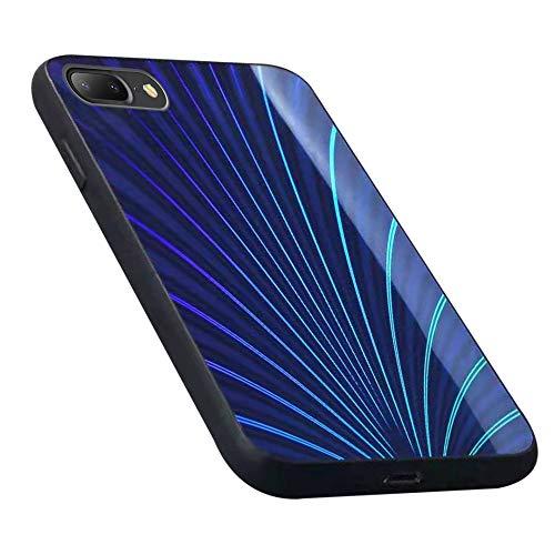 Oihxse Case Compatible pour iPhone 11 Pro 2019 Coque Mode 9H Verre Trempé Dur Protection Colore Laser Motif Housse Noir Silicone TPU Souple Bumper Etui Anti Rayures Cover (Bleu)
