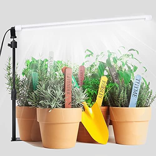 JCBritw LED Grow Light Bar T8 2ft Plant Growing Lamp for Indoor Plants White Full Spectrum...