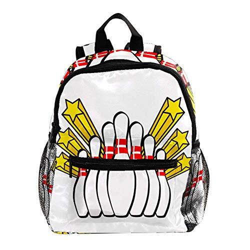 Bowling Sportif Sac À Dos 3-8 Ans Enfants Léger Toddler Daypack pour Maternelle Et Le Voyage De Bébé Sac À Langer 25.4x10x30CM
