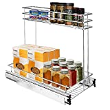 Secura Pull Out Cabinet Organizer, Professional Kitchen and Bathroom Sink Cabinet Organizer with 2-Tier Sliding Out Shelves