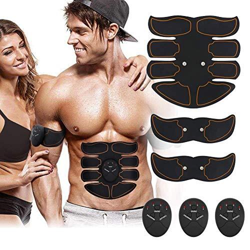 Moonssy EMS Trainingsgerät, EMS Muskelstimulator,Professional Bauch Muskel Trainer Elektrisch für Herren Damen,Abnehmen und Muskeln aufbauen,Tragbarer Muskel Trainer (Schwarz)