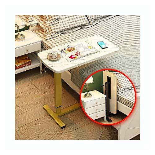 ZXCVBNM Mesa móvil para cama de hospital – Bandeja giratoria con ruedas – Mesa ajustable sobre la mesita de noche – Portátil, lectura, desayuno, mesa con ruedas sobre la cama
