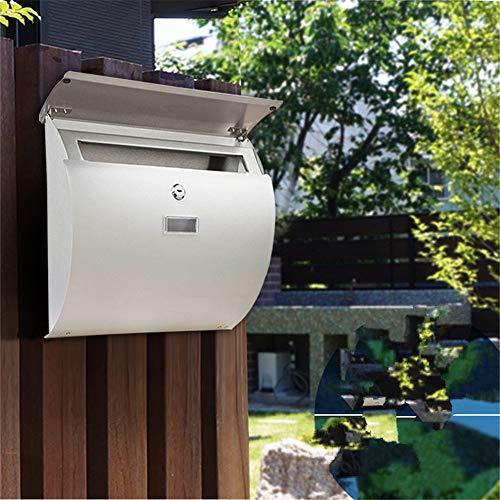 Liuxiaomiao brievenbus European-stijl outdoor-regendicht en waterdicht letterbox-wand 304 roestvrij stalen brievenbus met sluiting voor meervoudige bezorging van brieven