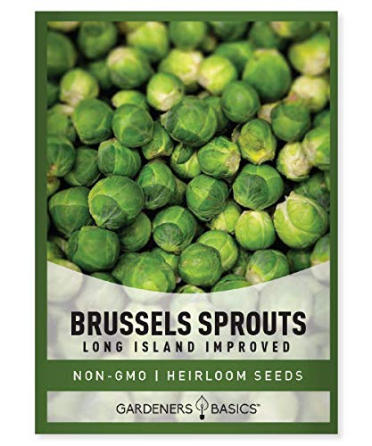 Brussels Sprouts Seeds for Planting - Long Island Improved Heirloom, Non-GMO...