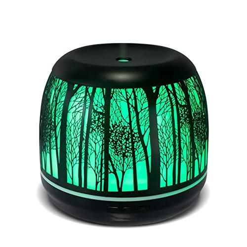 Tree 500ml Colorful Iron LED 3d light Advanced Cool Mist Humidifier Best Rated Diffusers for Essential Oils, Premium Iron Aromatherapy Diffuser with 7 Color LED Lights