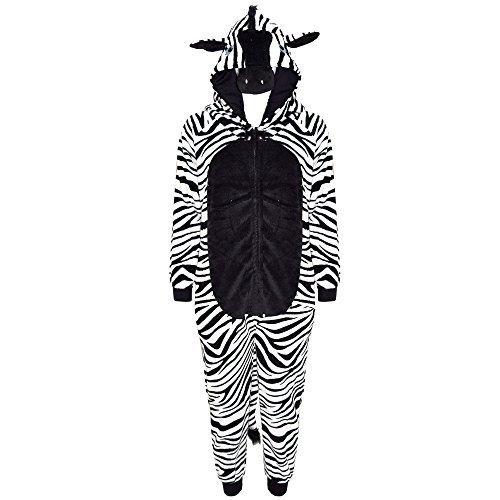 A2Z 4 Kids, travestimento da animale per bambini e bambine, tuta intera multicolore Zebra 11-12 anni
