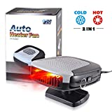 Car Heater 12V, Portable Windshield Car Heater, 2 In 1 Fast Heating Cooling Fan 150W Car Heater That Plugs Into Cigarette Lighter