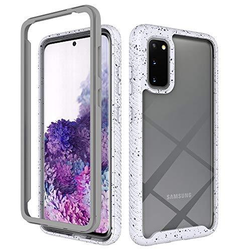 CAPOOK For el Caso Protector de TPU Prueba de Golpes Cielo Estrellado Samsung Galaxy S20 PC + Lentejuelas de la Caja del teléfono (Color : White)
