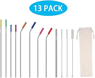 Stainless Steel Straws Drinking Straws Tubes Cocktail with silicone tips Drinking Tube LP