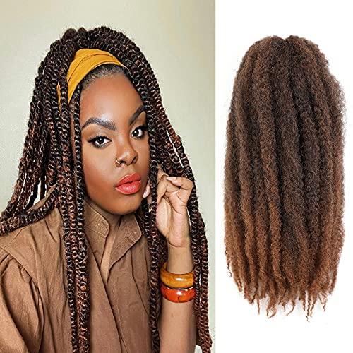 AMELI 6 Packs Marley Braiding Hair for Twists Synthetic Fiber Hair Afro Kinky Hair Marley Braid Hair Extensions (24inch, T30) …