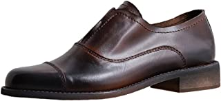 ONEENO Women's Brogue Leather Oxfords